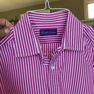 Purple Label Ralph Lauren Men Sz M Dress Shirt